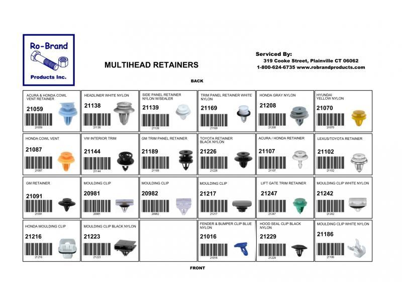 Multihead Retainer Assortment