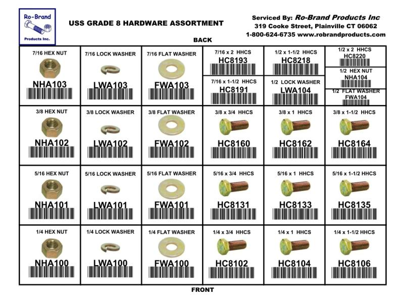 USS Grade 8 Hardware Assortment